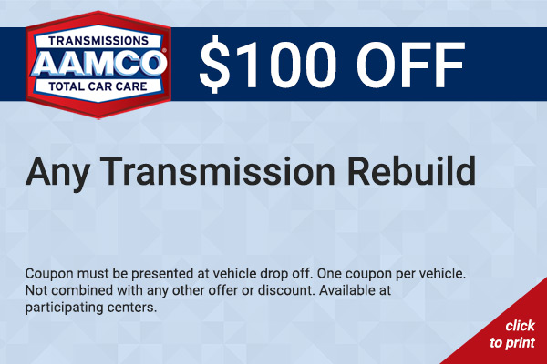 $100 Off Transmission Rebuild